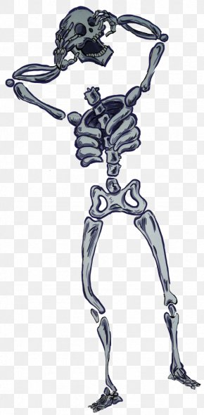 Halloween Skeleton Cartoon - Drawing Halloween Clip Art PNG