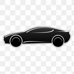 Black And White Sports Pictures - Sports Car Clip Art: Transportation Black And White Clip Art PNG