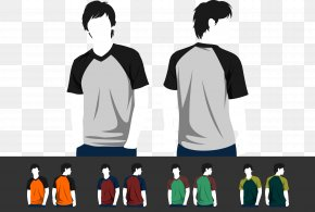 Colorful Short Sleeve Model - T-shirt Sleeve Green PNG