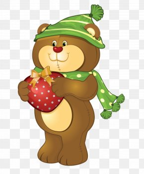 Bear - Teddy Bears' Christmas Clip Art Illustration PNG