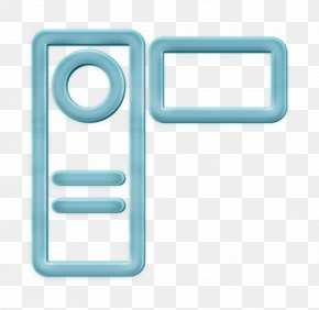 Rectangle Multimedia Icon - Audio Icon Camera Icon Handcam Icon PNG