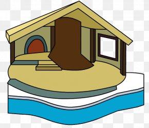 Log Cabin Snow Globe - Club Penguin Igloo House Clip Art PNG