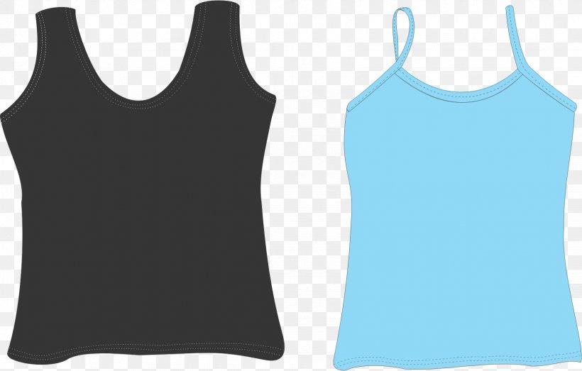 Top Sleeveless Shirt T-shirt Clip Art, PNG, 1655x1056px, Top, Active Tank, Black, Blue, Clothing Download Free