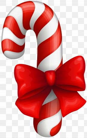Candy Cane Clip Art Image - Candy Cane Polkagris Ribbon Candy Christmas Clip Art PNG