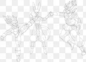 Goku E Vegeta - Line Art Figure Drawing Cartoon Sketch PNG
