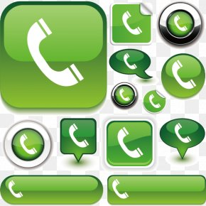Green Phone Button Icons - Symbol Telephone Icon PNG