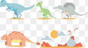 Cartoon Dinosaur - Dinosaur Footprints Reservation Euclidean Vector Tyrannosaurus PNG