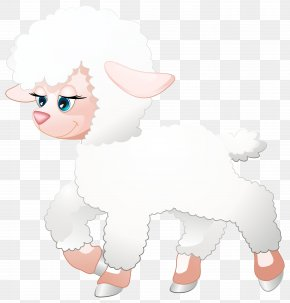 Cute Lamb Transparent Clip Art Image - Canidae Goat Dog Illustration PNG