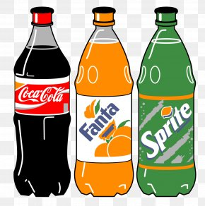 Vector Bottled Coca-Cola Beverages - Caffeine-Free Coca-Cola Soft Drink PNG