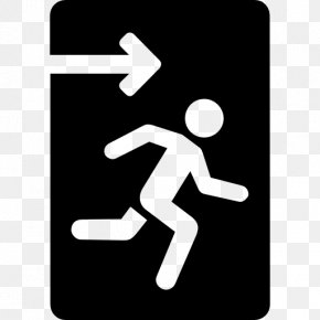 Emergency - Emergency Exit Exit Sign Icon Design PNG
