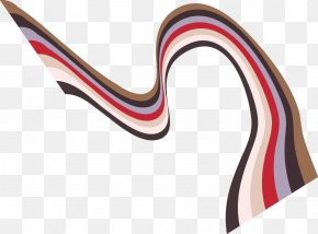 Vector Wavy Stripes Rainbow Bridge - Color Stripe Rainbow PNG