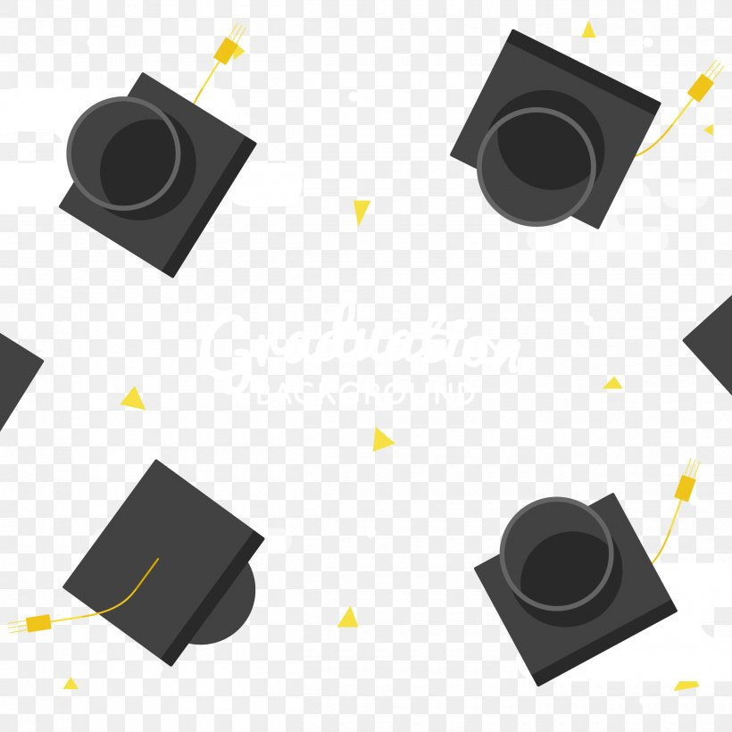 Hat Graduation Ceremony Bachelor's Degree Master's Degree Cap, PNG, 2500x2500px, Rectangle, Pattern, Product Design, Square Inc Download Free