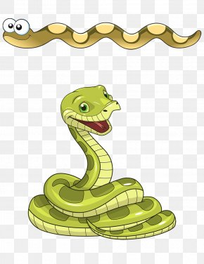 Cartoon Snake - Snake Green Anaconda Clip Art PNG