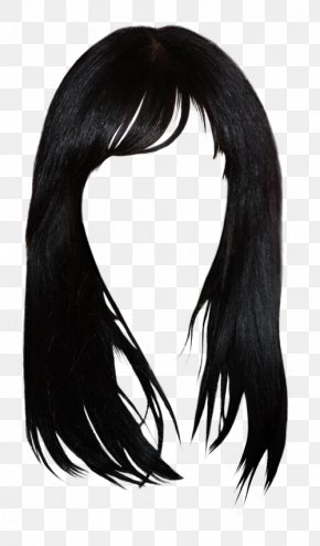 Hair Style - Black Hair Brown Hair Bangs Hairstyle PNG