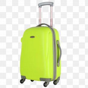 Grass Green Suitcase - Hand Luggage Suitcase Baggage Allegro Trunk PNG