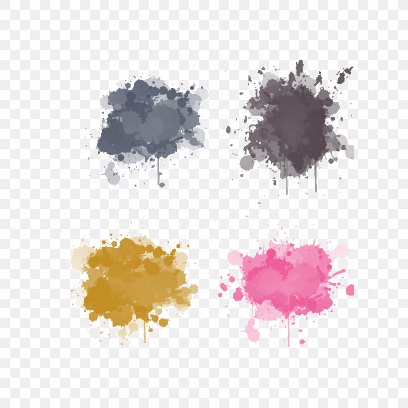 Watercolor Painting Ink Splash, PNG, 1000x1000px, Watercolor Painting, Art, Drawing, Petal, Stock Footage Download Free