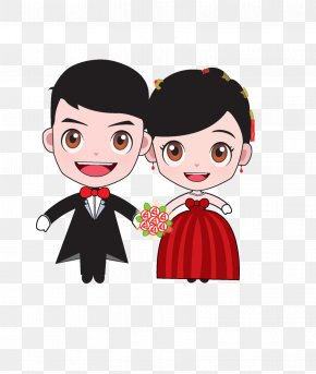 Cartoon Bride And Groom - Bridegroom Marriage Cartoon Wedding PNG