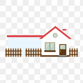 The Fence Next To The House - Student School Learning Clip Art PNG