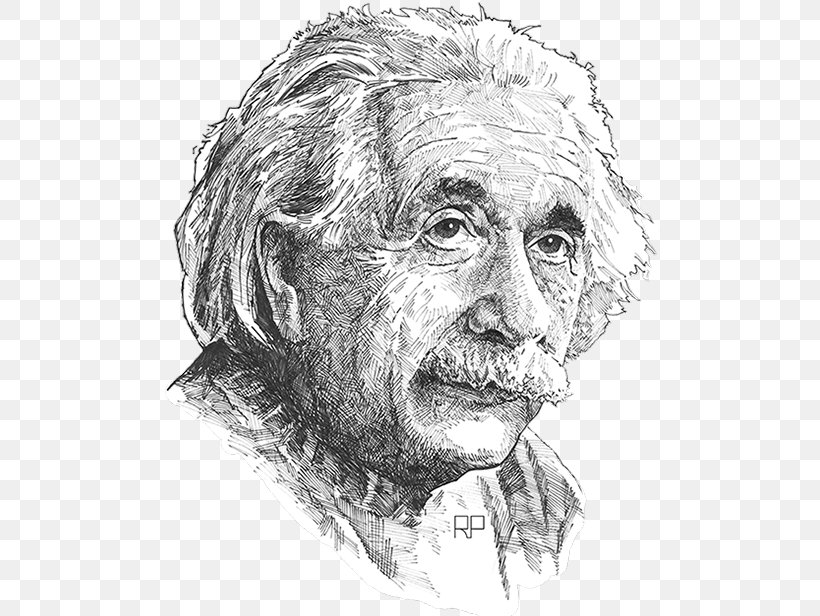 Albert Einstein Drawing PNG, PNG, 507x616px, Portrait, Art, Artwork, Black And White, Canvas Download Free