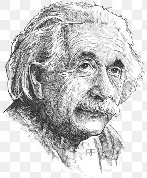 Transparent Albert Einstein - Albert Einstein Drawing PNG PNG