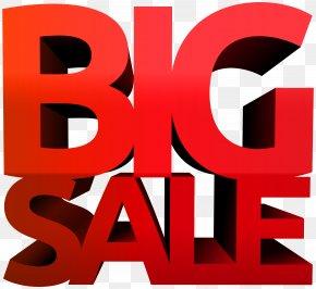 Big Sale Red Clip Art Image - Clip Art PNG