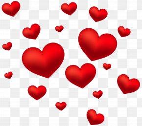 Hearts Decoration Transparent Clip Art Image - Heart Clip Art PNG