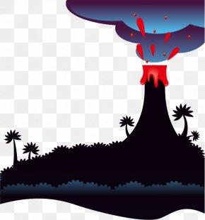 Vector Cartoon Volcano - Mount Pinatubo Volcano Magma PNG