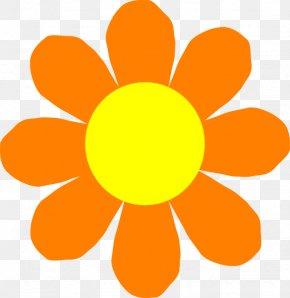 Orange Flower Clipart - Flower Spring Clip Art PNG