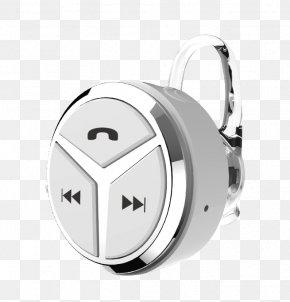 Silver Bluetooth Headset - Microphone Headphones Bluetooth Headset Handsfree PNG