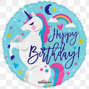Unicorn Birthday - Mylar Balloon Birthday Party Toy Balloon PNG