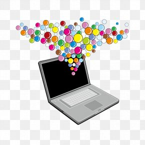 Computer And Ball - Three-dimensional Space Computer Graphics PNG