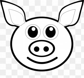 Community Drawing Cliparts - Pig Coloring Book Drawing Face Clip Art PNG