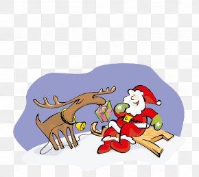 Santa's Reindeer Vector - Santa Clauss Reindeer Ded Moroz Santa Clauss Reindeer Christmas PNG