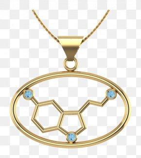 Jewellery - Locket Molecule Jewellery Earring Gold PNG
