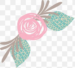 Line Flowers - Pink Icon PNG