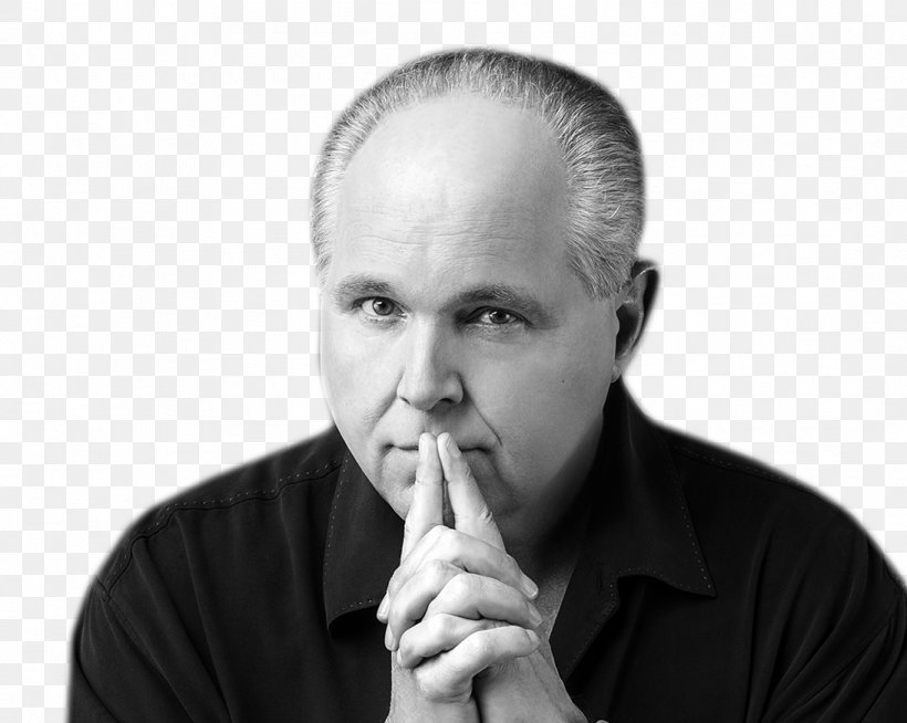 The Rush Limbaugh Show United States Television Presenter Premiere Networks, PNG, 1093x873px, Rush Limbaugh, Black And White, Chin, Donald Trump, Finger Download Free