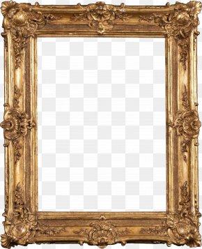 Gold Pattern Frame - Picture Frame Digital Photo Frame Tableau PNG