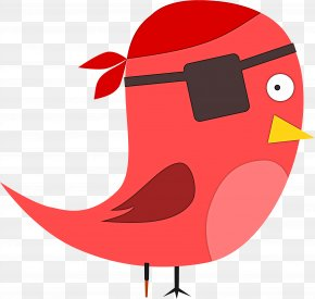 Perching Bird Songbird - Red Cartoon Cardinal Bird Songbird PNG