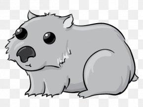 Line Art Snout - Cartoon Wombat Snout Wombat Line Art PNG