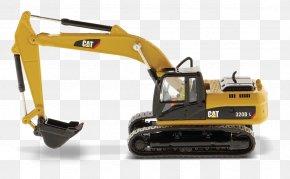 Excavator - Caterpillar Inc. Excavator Die-cast Toy Hydraulics Wheel Tractor-scraper PNG