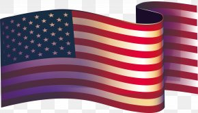 Flying The American Flag - Flag Of The United States Illustration PNG