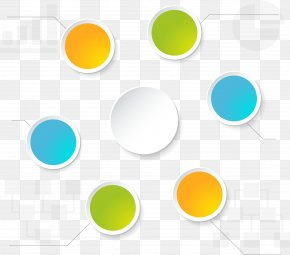 Colorful Circle Label - Label PNG