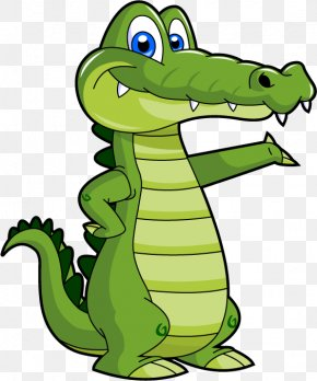 Cartoon Crocodile - Crocodile Drawing Cartoon Clip Art PNG