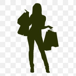 Happy Women - Black Friday Shopping Woman Cyber Monday PNG