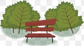 Vector Painted Park Benches - Park Bench PNG