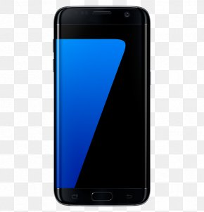 Smartphone - Samsung GALAXY S7 Edge Smartphone Unlocked Black PNG