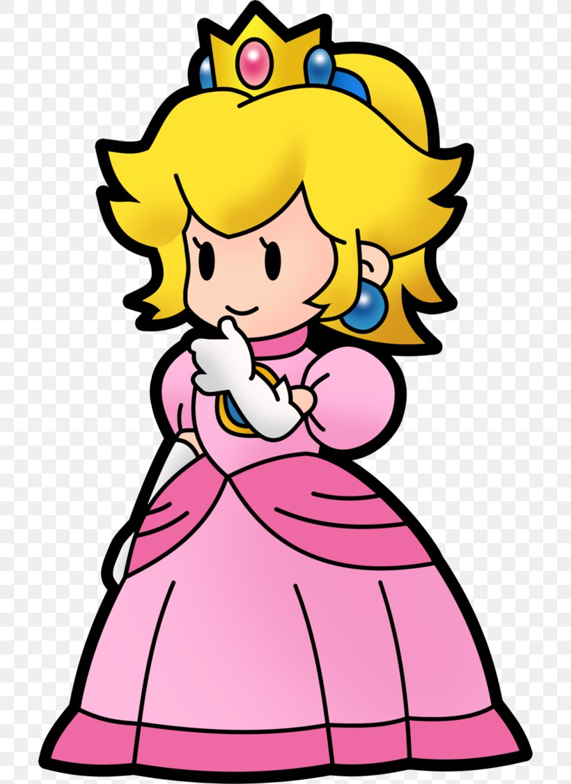 Princess Peach Super Paper Mario Png 710x1126px Princess Peach Art Artwork Coloring Book Drawing Download Free