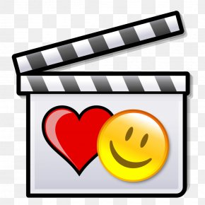 Romantic - Silent Film Clapperboard Cinema PNG