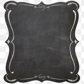 Black Border - Blackboard Picture Frame Chalk Clip Art PNG