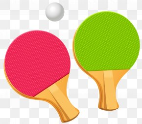 Table Tennis Ping Pong Paddles Vector Clipart - Table Tennis Racket Clip Art PNG